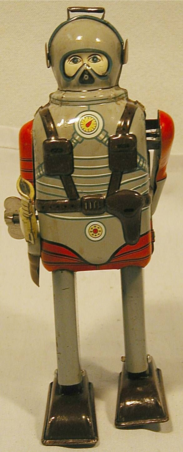4029: Space Commando. This space toy is made of tin lit