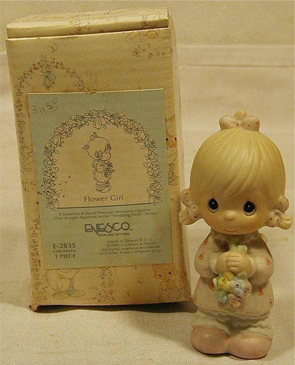 4007: Precious Moments Flower Girl Wedding Figurine wit