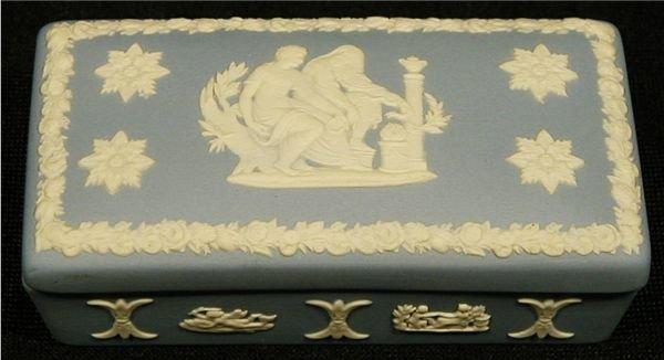 4008: Wedgewood Blue Jasperware Box, 3 1/2W x 2D x 1H