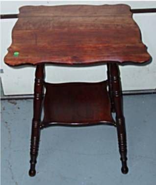 4009: Mahogany Lamp Table, 24 Square x 29H
