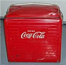 4001: Vintage Coca Cola Icebox Cooler, 17W x 12 1/2D x