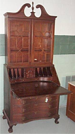 4012: Walnut Govenor Winthrop Dropfront Desk, 84H x 36W