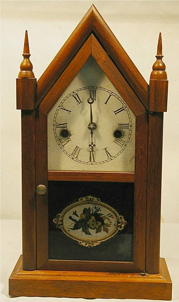 "4005B: Waterbury Steeple Regulator Clock, 15""H x 8""W"
