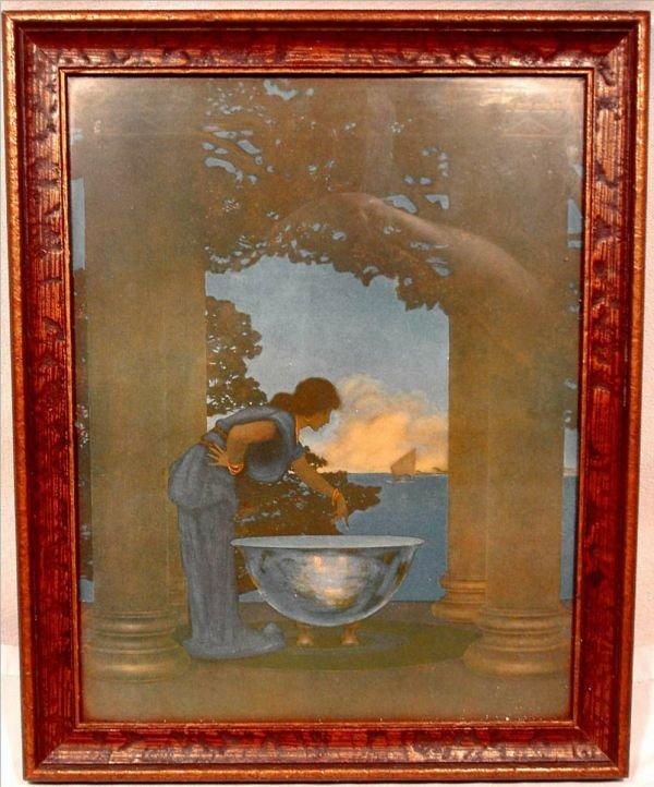 4003B: Maxfield Parrish Orignal Print Title Circi's Pa