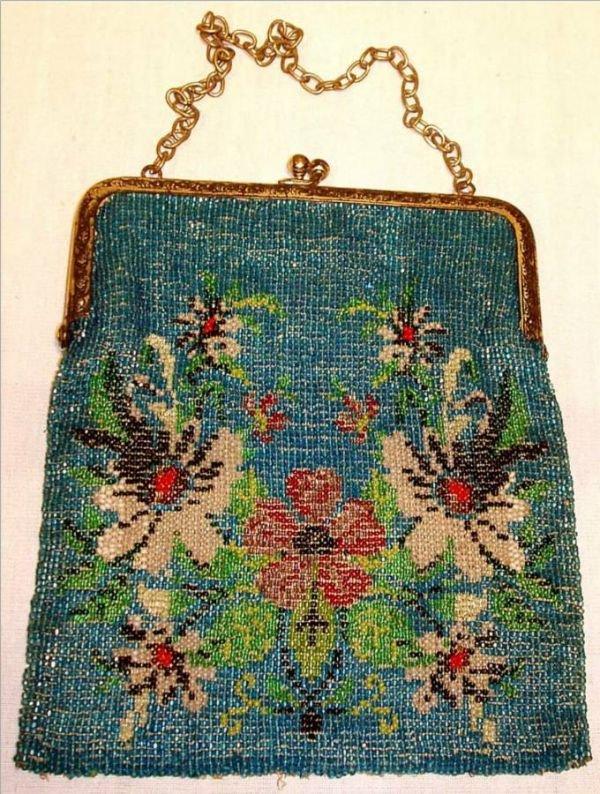 4006B: Beaded Ladies Handbag