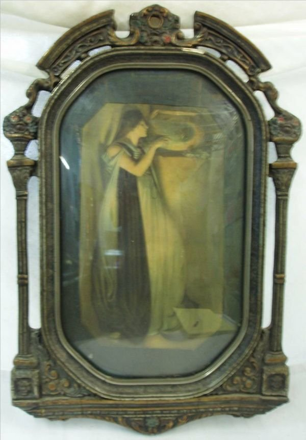 4009B: Parrish Style Print In Highly Ornate Frame, 14 x