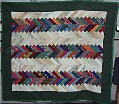 1020B: Child's Quilt or Lap Throw, V Pattern, Hand Sew