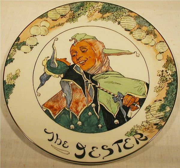 "3003: Royal Doulton Jester Plate, 10 1/2"" Dai., Excell"