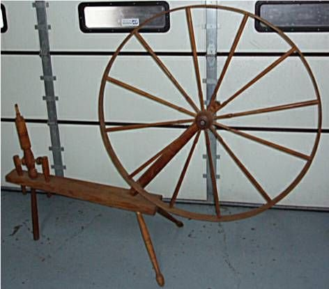 3015B: 1800's Flax Wheel, Partial Incomplete, Missing