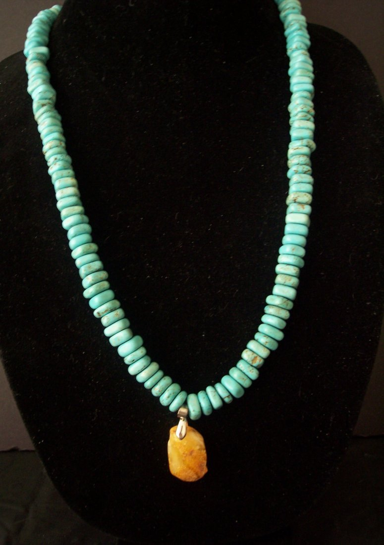 Turquosie and Amber Necklace