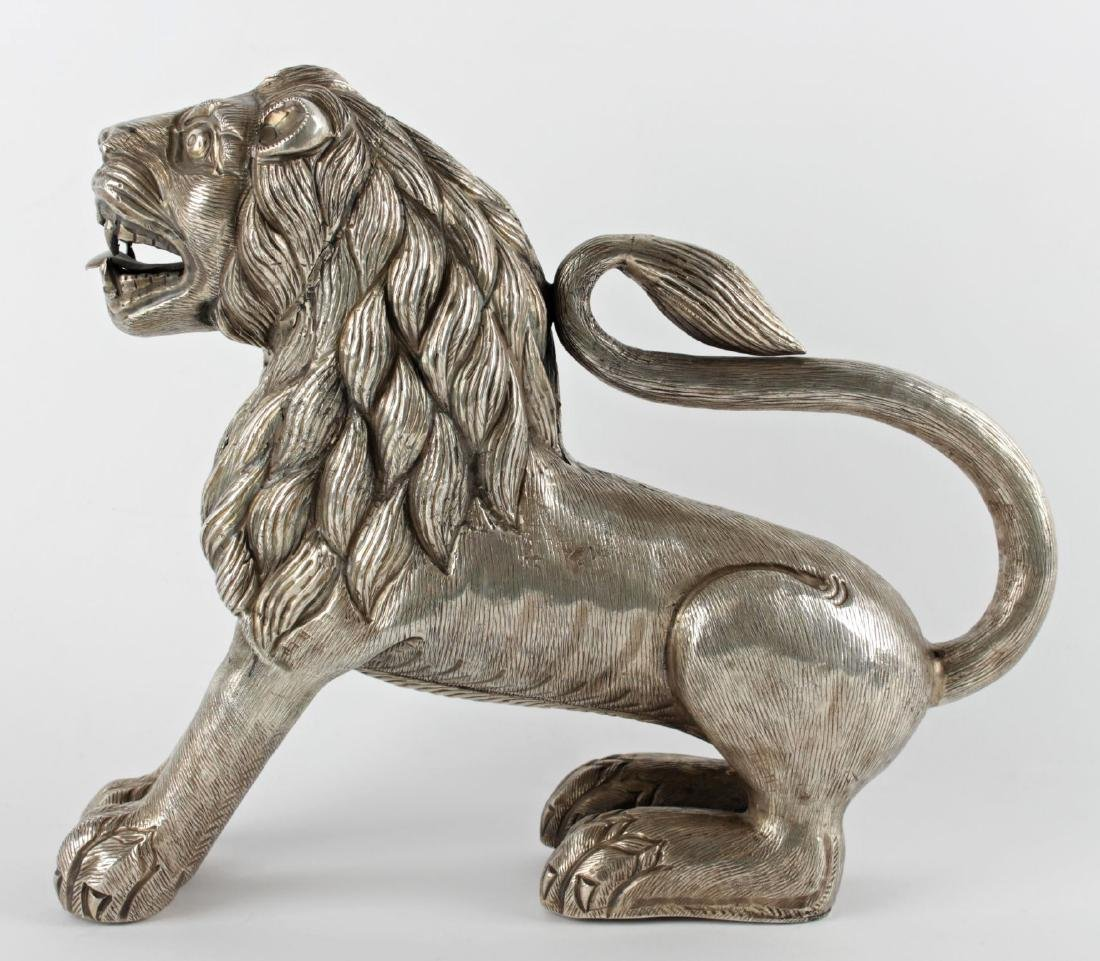 An Important and Very Rare Indian Silver Lion