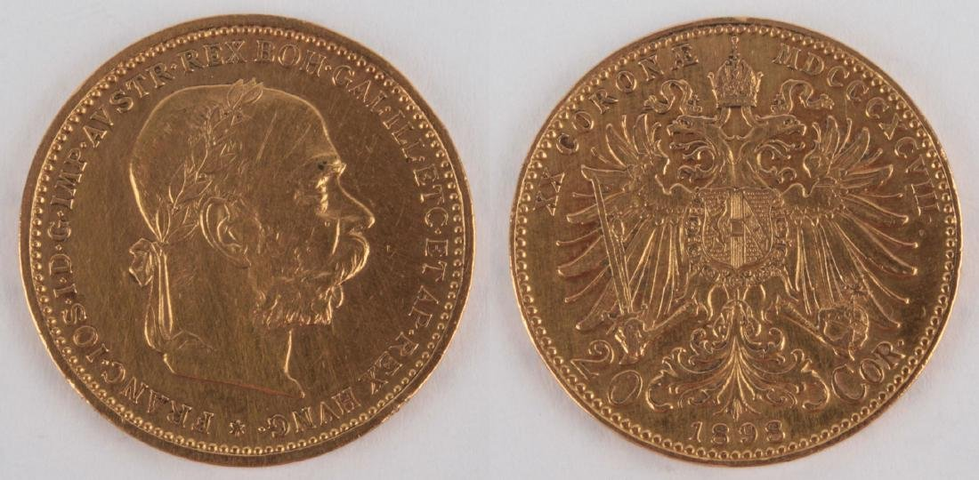 Gold coin: 10 Crowns FJI 1898
