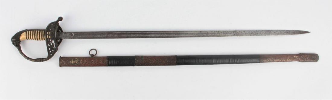 A Sword of Turkish High Rank Navy Officer