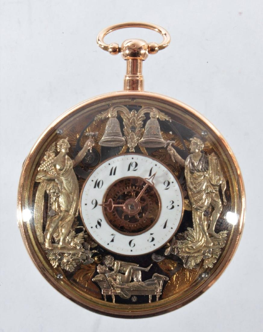 Empire watches with an automaton, erotic scene and