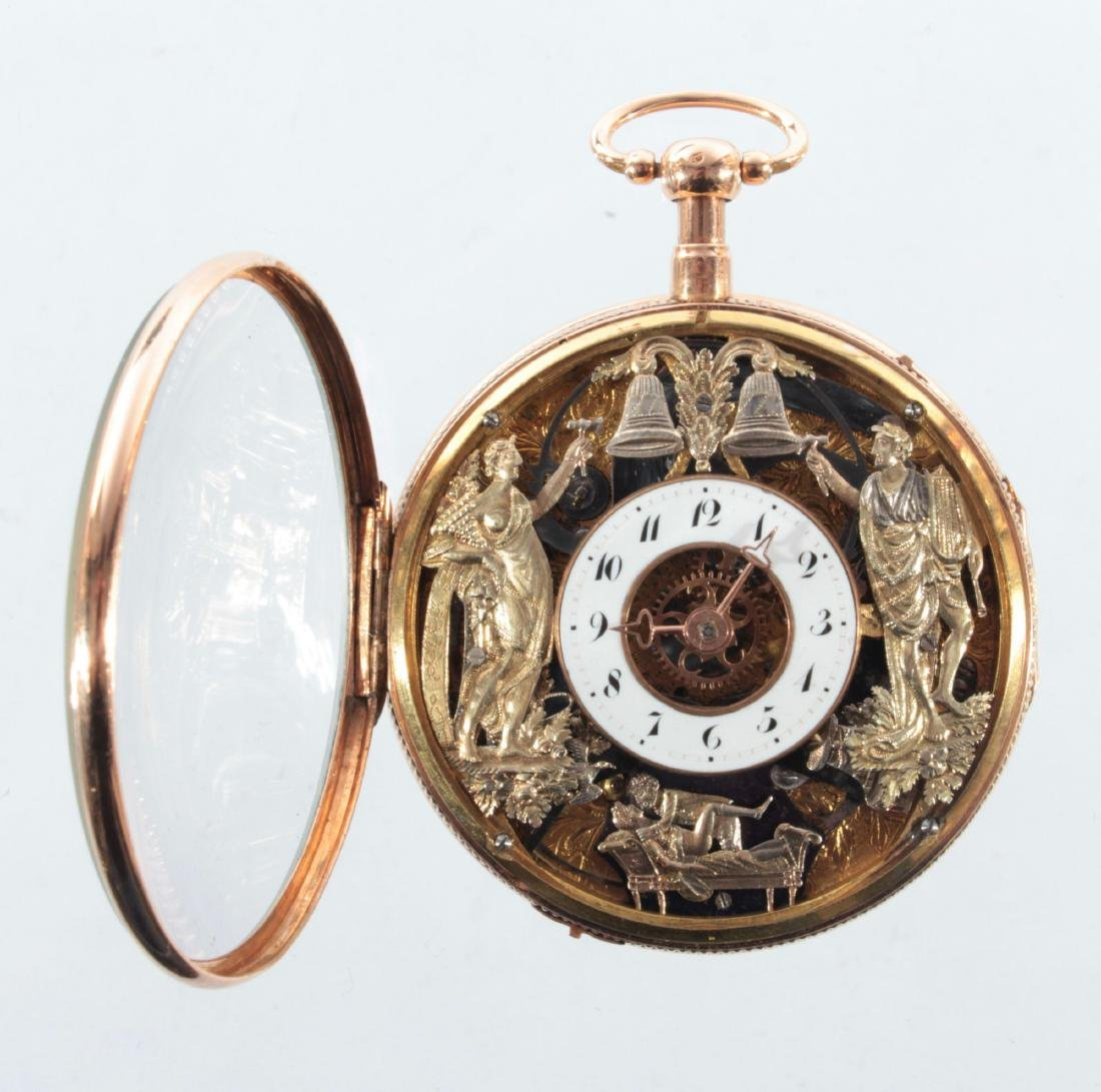 Empire watches with an automaton, erotic scene and - 2