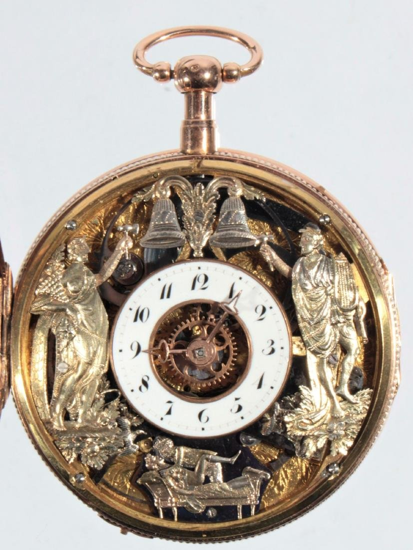 Empire watches with an automaton, erotic scene and - 3