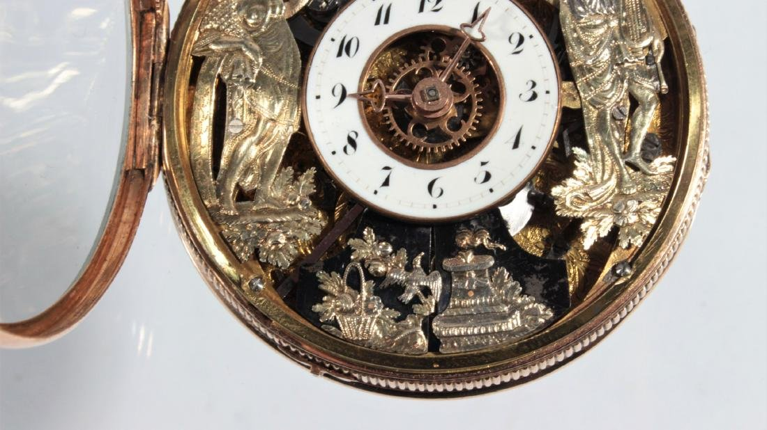 Empire watches with an automaton, erotic scene and - 4