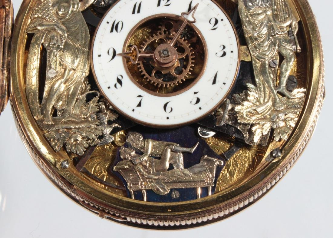 Empire watches with an automaton, erotic scene and - 5