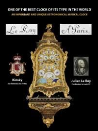 Unique French Astronomical Musical Clock Le Roy A Paris