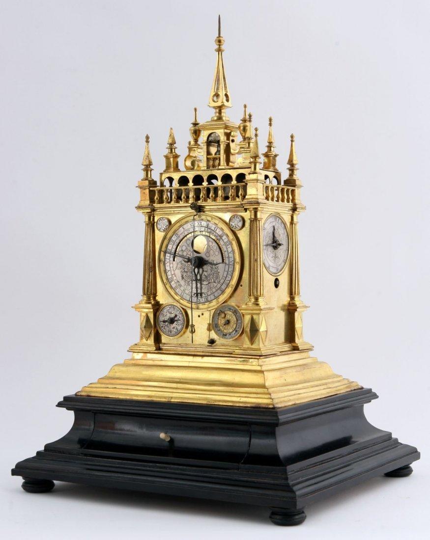 Rare Renaissance astronomical clock 17th century