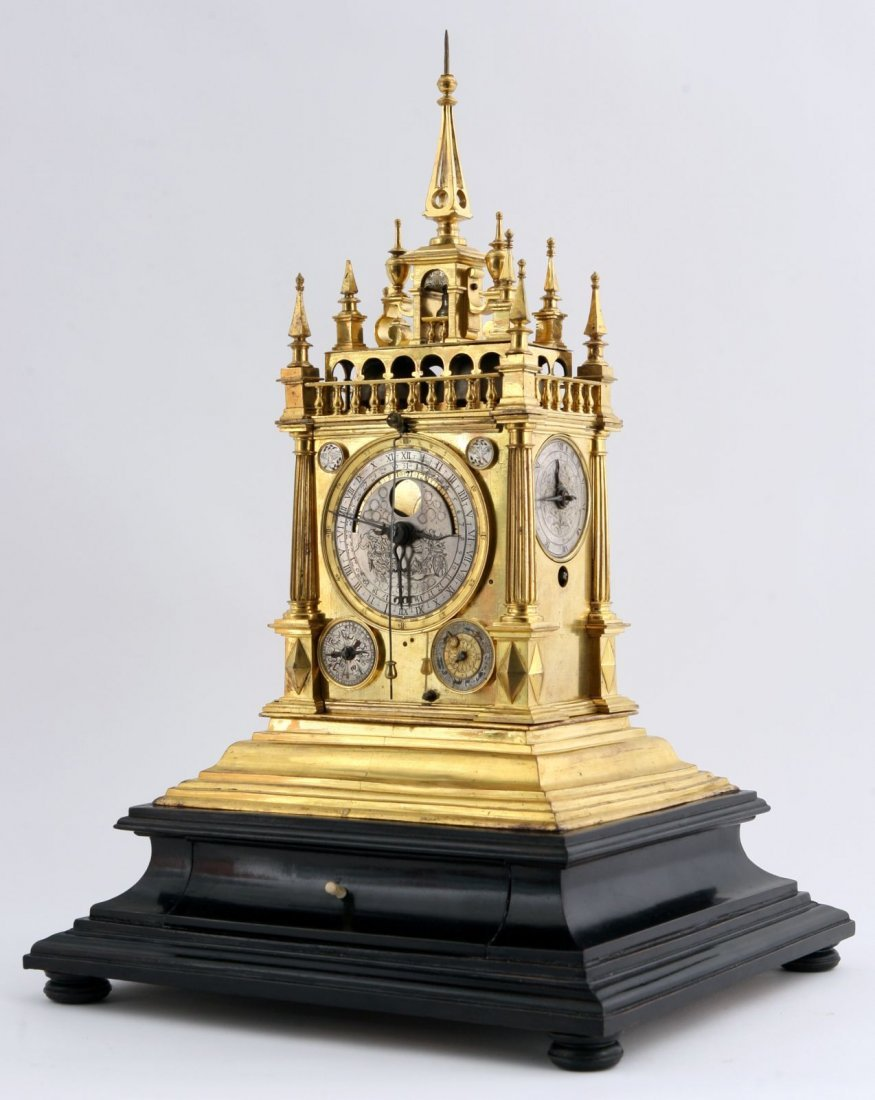 Rare Renaissance astronomical clock 17th century