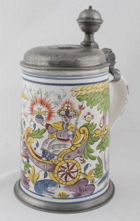 Beer Stein With A Tin Lid