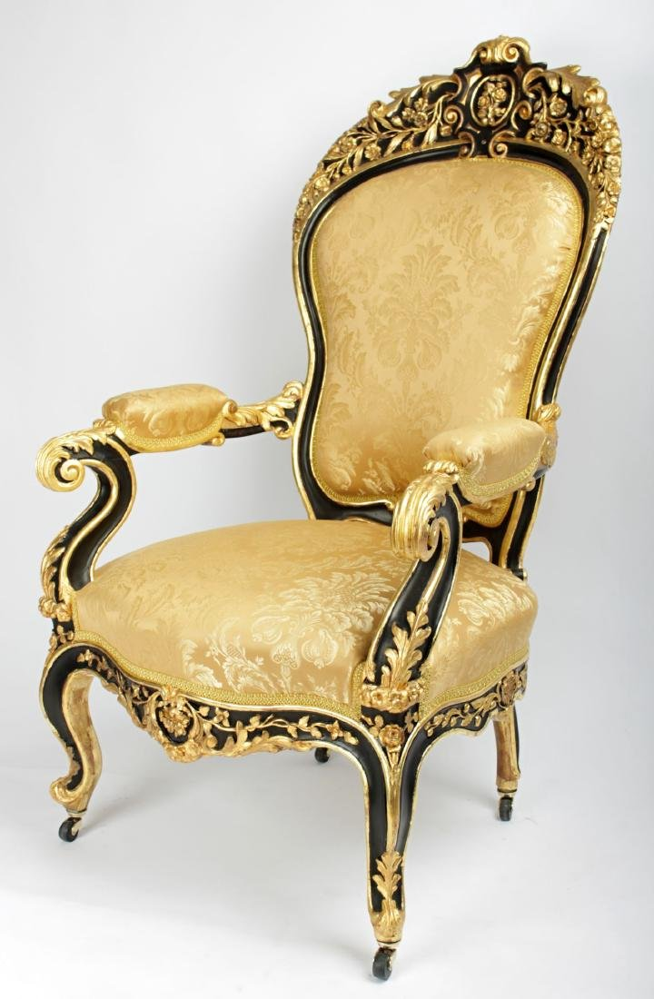 A Very Rare Rococo Carved Armchair