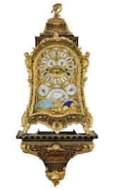 A Unique Baroque Boulle Console Clock Le Roy A Paris