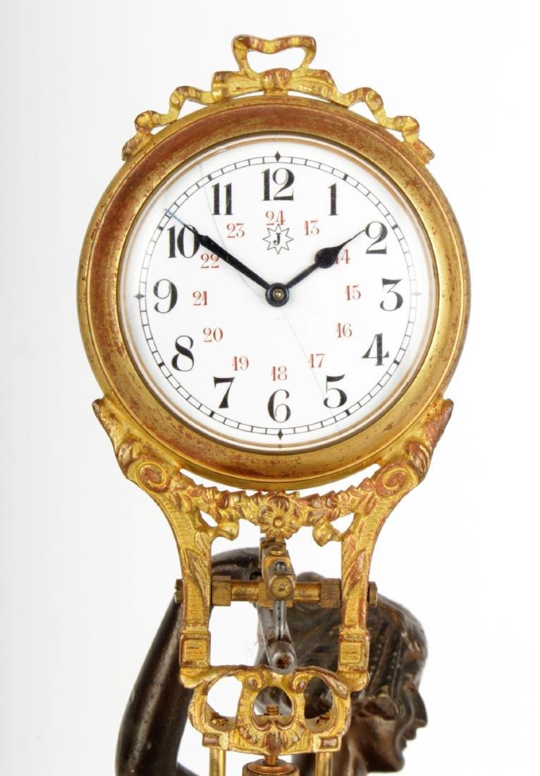 Art Nouveau Mystery Clock Junghans - 3