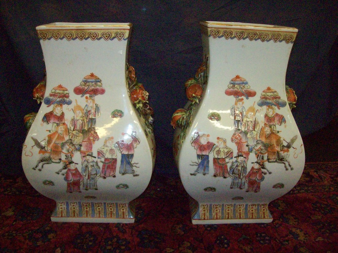 Matching pair of Tao Kwan Vases