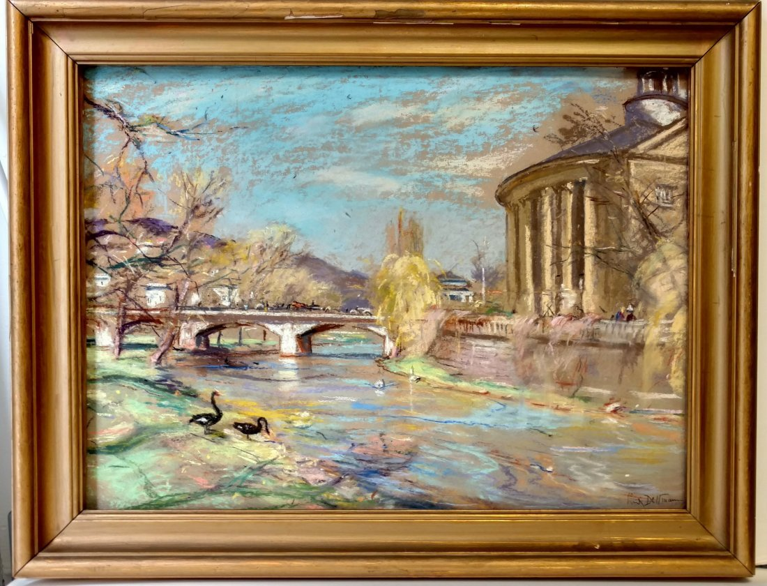 Ludwig Dettmann German Impressionist Spring Landscape