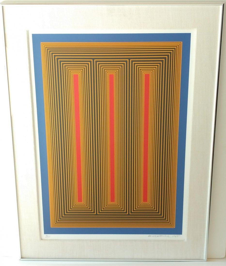 Richard Anuskiewicz 1985 Signed Op Art Silkscreen Print