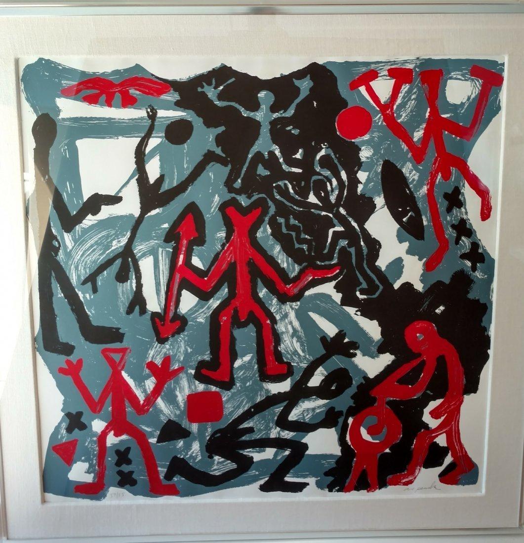 Large AR Penck aka Ralf Winkler Neo Expressionist Print