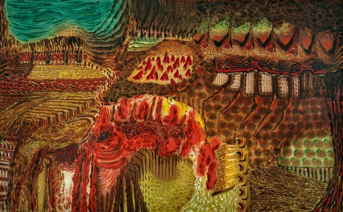 Eugenio F. Granell 1950s Surrealist Oil Ex MOMA