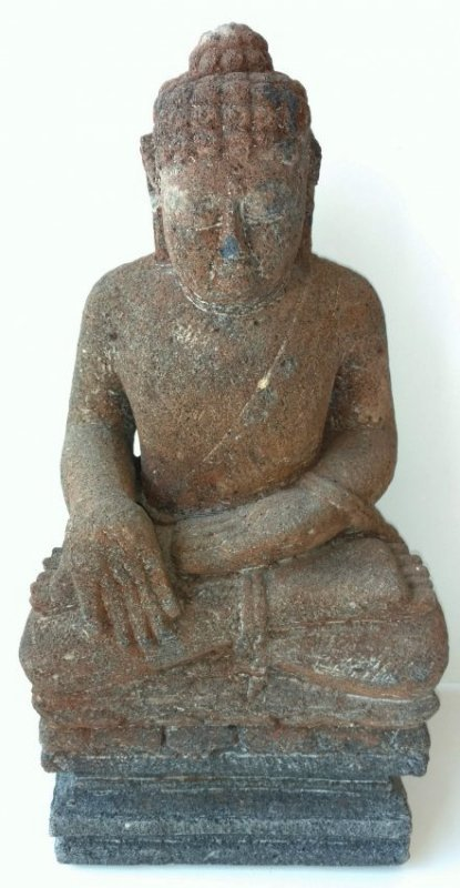 Chinese Ming to Qing or Tibetan Thai Sandstone Buddha