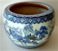 Signed Large Chinese Republic Era Porcelain Jardiniere