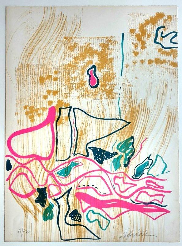 Lila Katzen Fishermans Yarn Color Lithograph AP