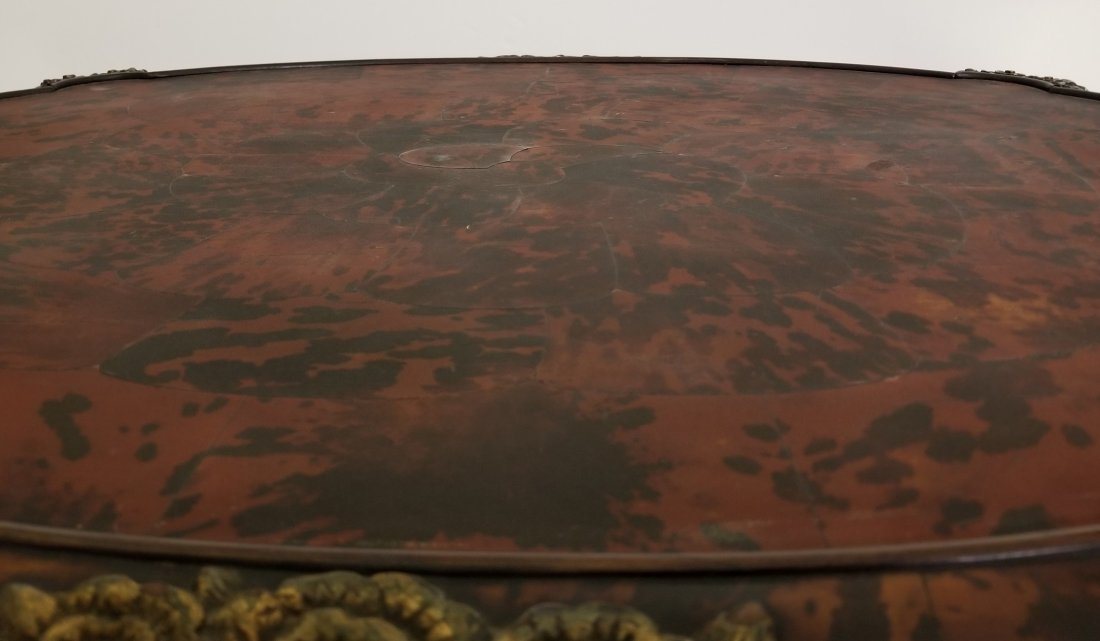 Maison Franck Oval Inlaid Art Deco Coffee Table - 6