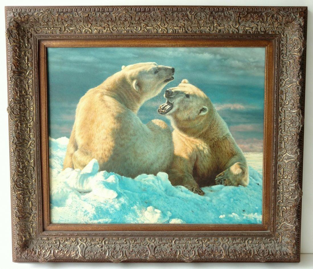 The Original Brian Jarvi 1994 Polar Bears Painting