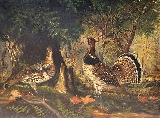 Lg Audubon or Tait School Sporting Oil