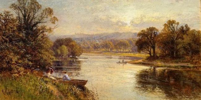 Alfred August Glendening Thames Landscape