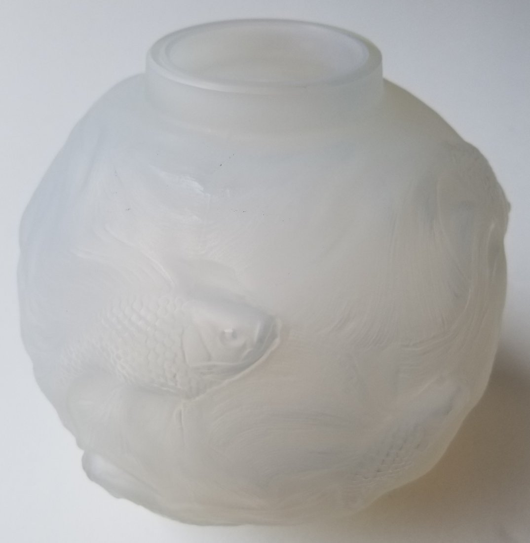 R Lalique Formose Art Deco Koi Bowl - 2