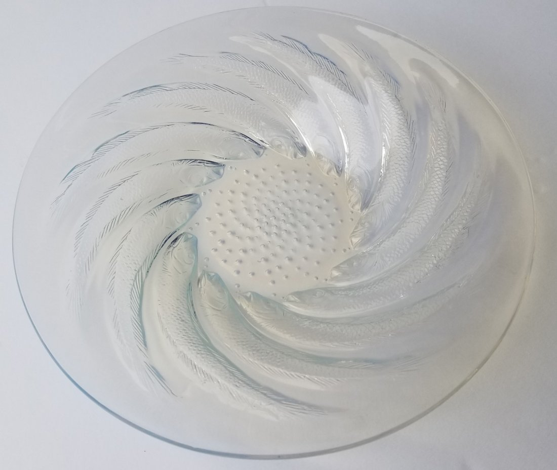 R Lalique Poissons French Art Deco Bowl