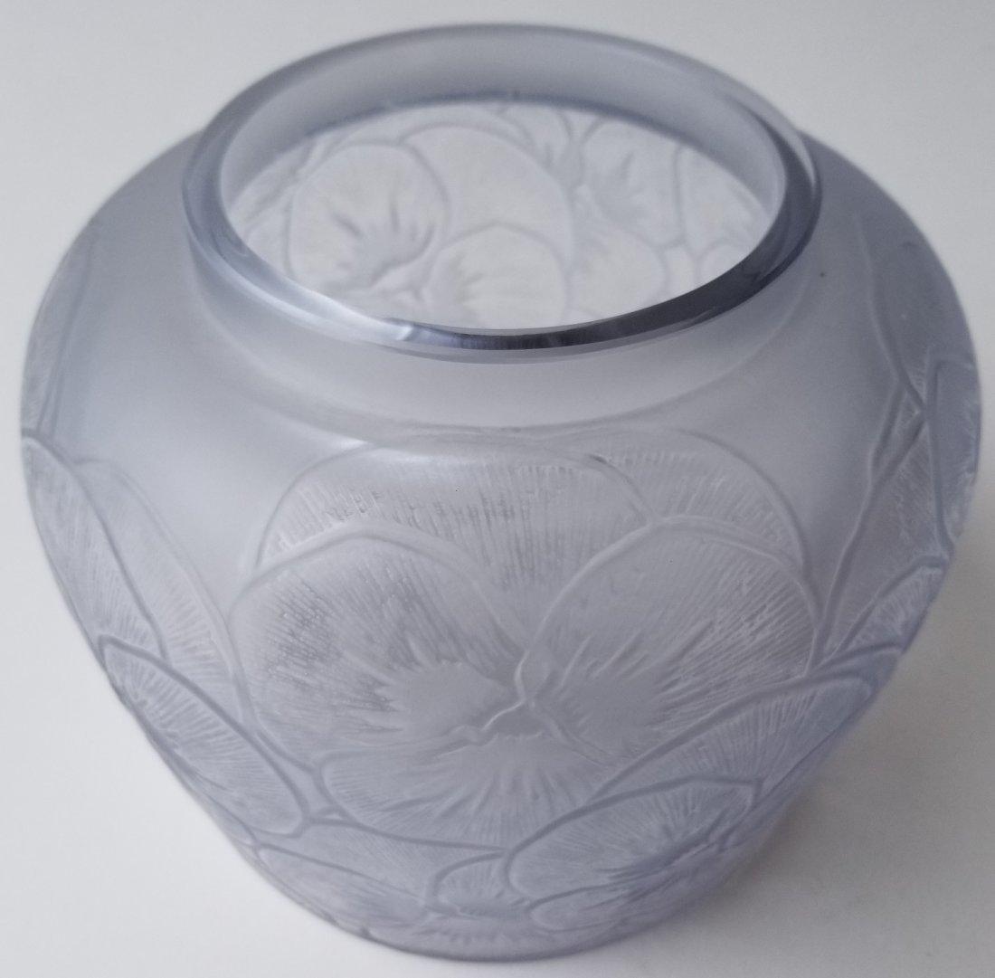R Lalique Pensees French Art Deco Vase