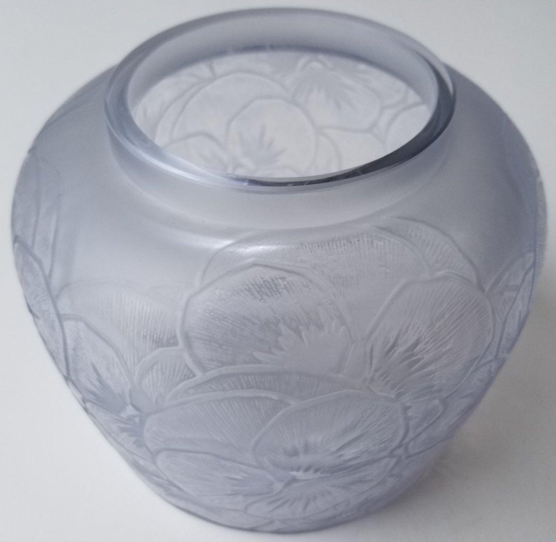 R Lalique Pensees French Art Deco Vase - 2
