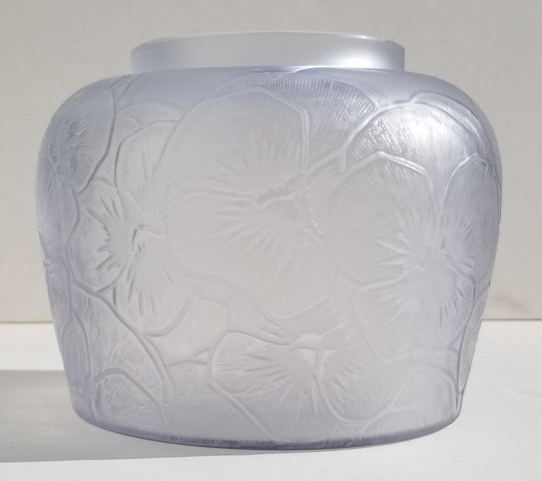 R Lalique Pensees French Art Deco Vase - 5