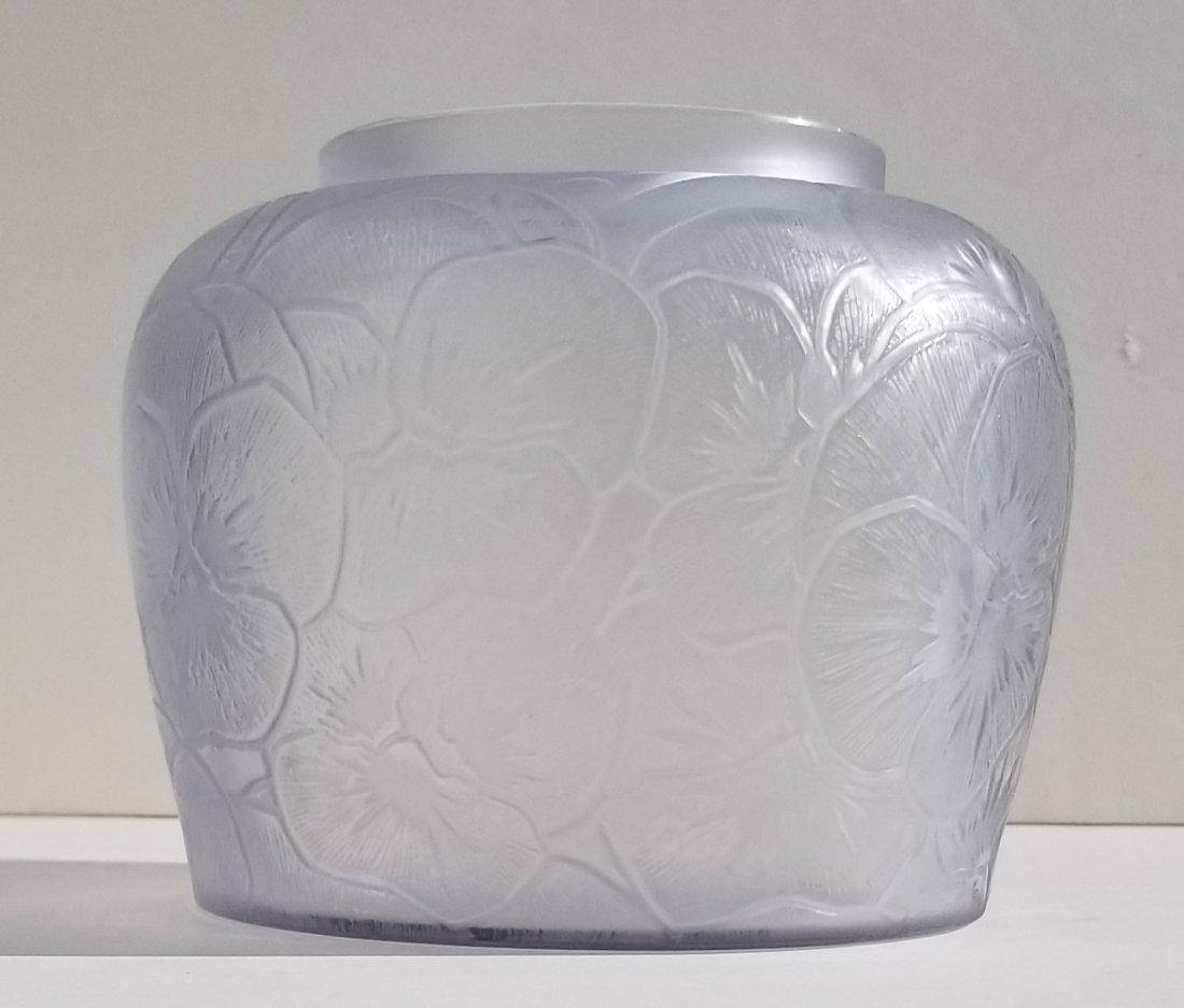 R Lalique Pensees French Art Deco Vase - 6