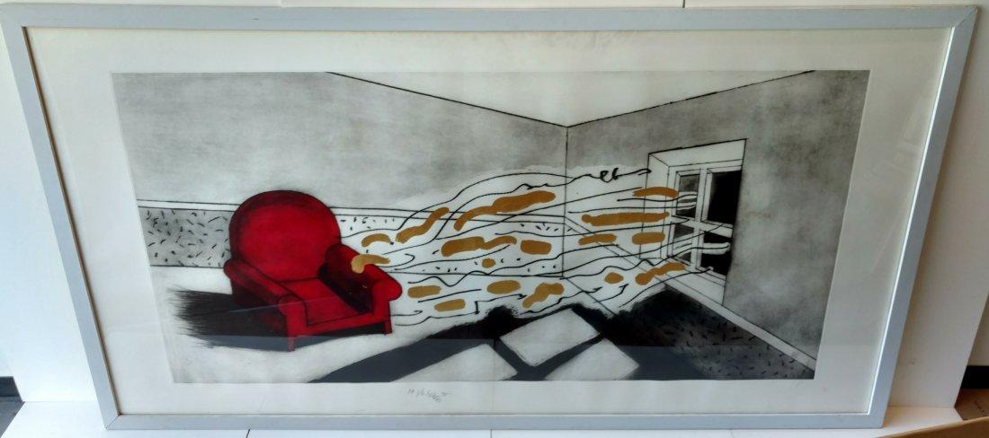Large Ettore Sottsass Lithograph