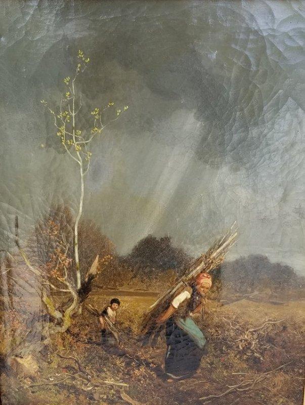 Louis Adolphe Hervier Barbizon Landscape