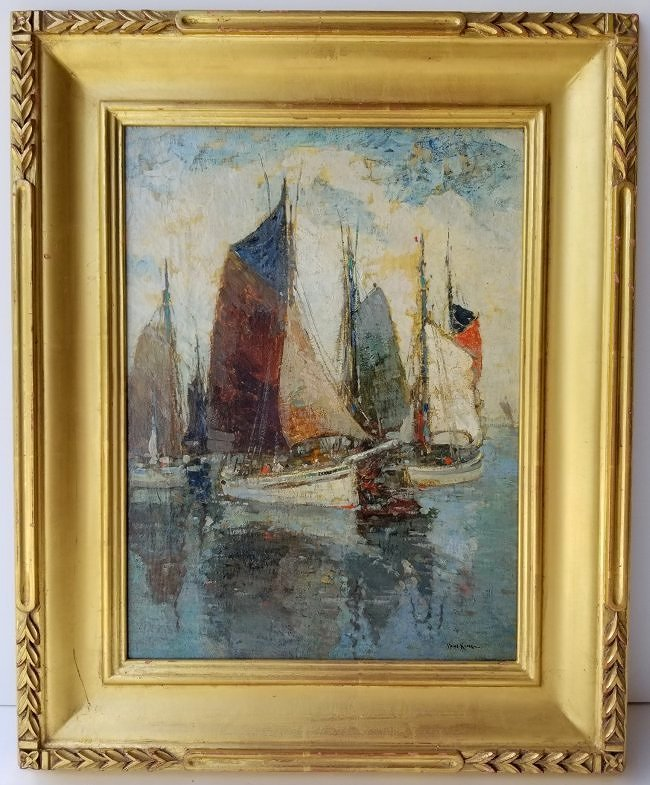 Paul King Marine Harbor Sailboat Seascape